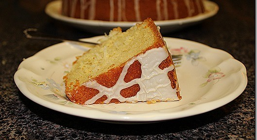 Coconut Pound Cake with Mexican Vanilla Glaze, by Beverly Hicks Burch