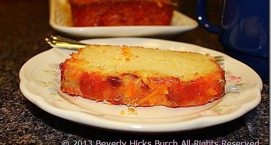 Orange Dreamsicle Pound Cake, by Beverly Hicks Burch